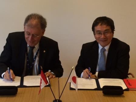 CNSC President Michael Binder (left) and Mr. Masaya Yasui (right), Director General of Technical Affairs at the NRA